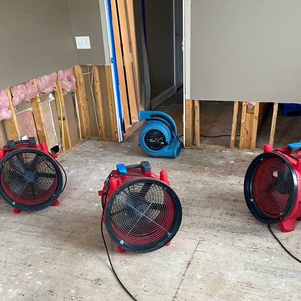 fans and blowers for drying water damage