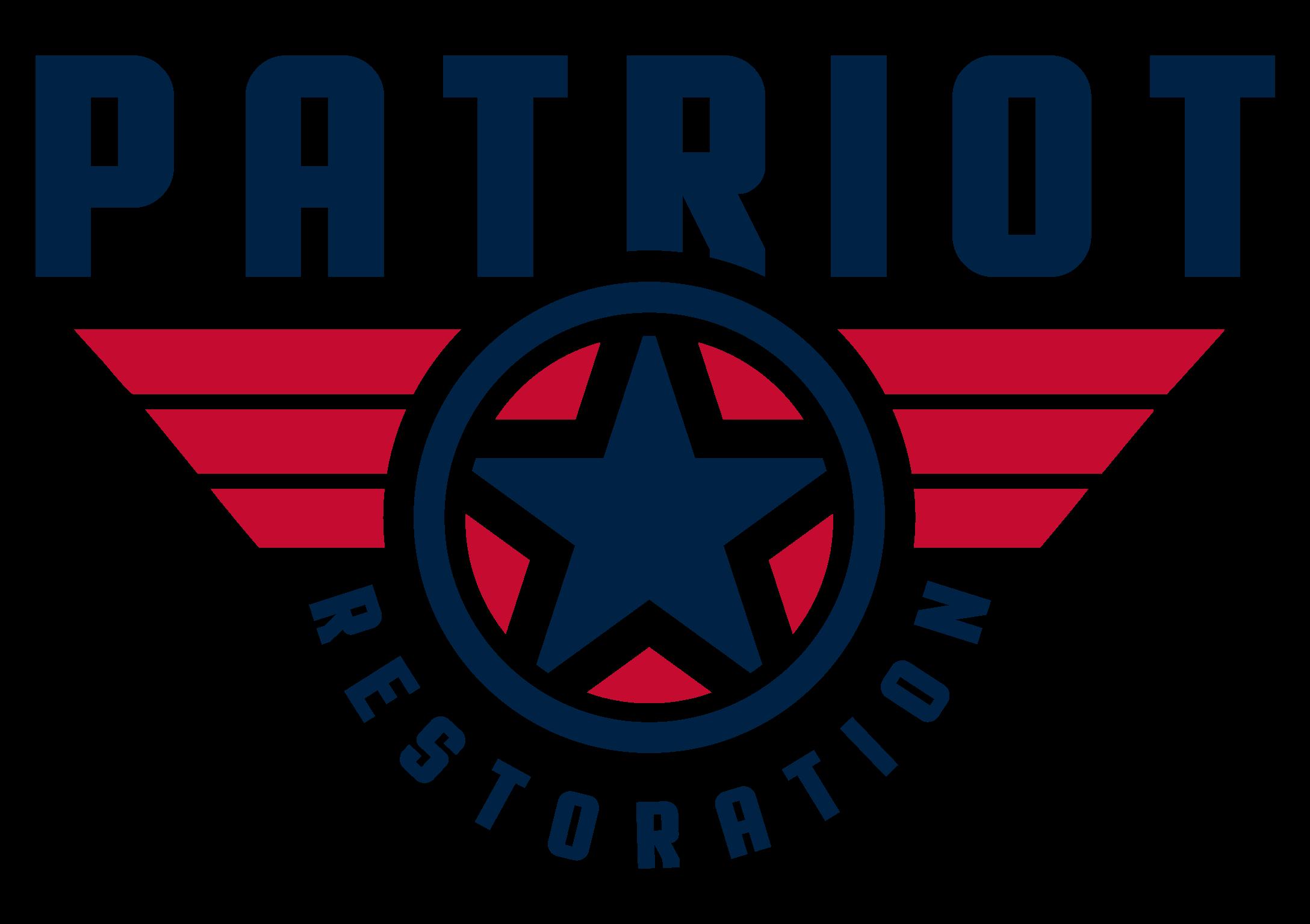 the patriot restoration logo, but very very big